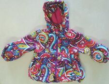 Me Too Outdoor Toddler Girls Paisley  Hooded Puffer Jacket Sz 2 Years