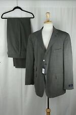 NWT David Chu Men's Brown Blend 2PC Suit Double Vent Blazer Jacket Sz 46R