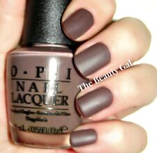 Opi Chocolate Suede® Matte~You Don't Know Jacques,Top Coat Nail Polish Lot