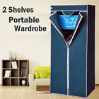 2 Shelves Brand New Easy to assemble Portable Wardrobe Large Space Storage Navy