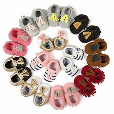 Infant Baby Soft Sole PU Leather Boy Girl Toddler Moccasin Prewalker Shoes