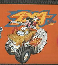 Disney Mickey Mouse Monster Trucks - ONLY $6 - Wallpaper Border 46
