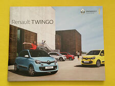 Renault twingo play s papier brochure catalogue de vente septembre 2015 mint