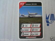 21 AIRPLANES H3 ANTONOV AN-225 SPACE-SHUTTLE KWARTET KAART, QUARTETT CARD