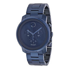 New Movado Bold Chronograph Blue PVD Stainless Steel Men's Watch 3600279