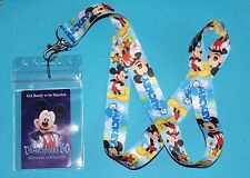 DISNEY MICKEY MOUSE LANYARD PIN FASTPASS ID HOLDER ZIPLOCK BADGE KEY MP3 NEW