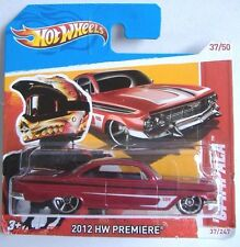 Hotwheels (2012) '61 IMPALA - #37/247 - DARK RED PAINT - HW PREMIERE - 1/64