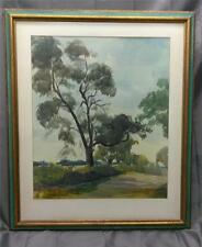 Antique American Impressionist Signed Watercolor Painting Detroit Eldon Roths