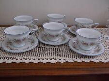 Rosenthal  Floral Maria Cups & Saucers Selb Germany