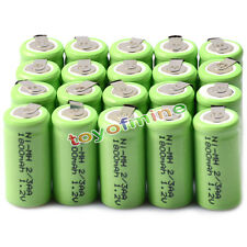 20x Ni-MH 1.2V 2/3AA 1800mAh rechargeable battery NI-MH Batteries For Phone Toy