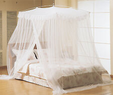 Luxury White Hight Mosquito Net Canopy Bites Protect For King Super King Size