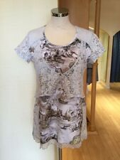 Jean Gabriel Top Size 12 BNWT Cream Grey Beige RRP £100 Now £35