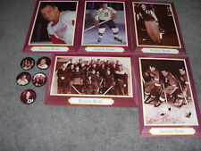 1995/96 Parkhurst Gordie Howe Set of 5 Oversized Cards And Coins