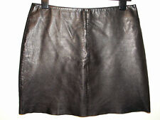 OASIS real leather mini skirt black size 12