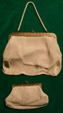 2 Vintage Whiting & Davis Ivory Mesh & Gold Trim Small Evening Bags   BEST OFFER
