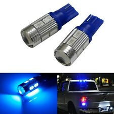 T10 Samsung Projector 10 LED Light 5630 Bulbs Bright - BLUE- 2pc
