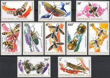 Rwanda 1973 Insects/Beetles/Moth/Grasshopper/Nature/Environment 10v set (n22226)