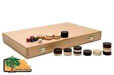 BACKGAMMON - Large 46cmm / 18.1in Handcrafted Wooden Backgammon