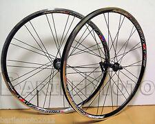 Coppia Ruota / Cerchio Anteriore + Posteriore Alluminio Nero Bici MTB MALVESTITI