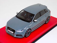 1/18 GT Spirit 2015 Audi A3 RS3 Sportback in Grey Leather Base GT095