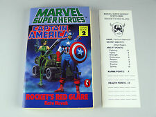 "Captain AMERICA-ROCKET ""S Rosso RIVERBERI / MARVEL SUPEREROI GIOCO BOOK 2"