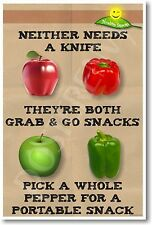 Apples and Peppers - NEW Motivational Health and Nutrition Poster