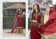 Unstitched Designer Salwar Kameez Bollywood Suit Indian Pakistani REDUCED