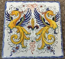 Deruta Pottery-6x6 Inch Tile Raffaellesco-Made/painted by hand In Italy.