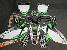 Kawasaki KXF450 2012-2015 D Cor Monster Energy graphics + plastics 20-20724