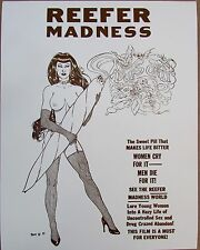 "REEFER MADNESS WOMAN NORML SEPIA POSTER PRINT 11"" X 14""  420 HEMP REEFER MADNESS"