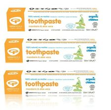 GREEN PEOPLE ORGANIC CHILDREN MANDARIN & ALOE VERA TOOTHPASTE 3x50ml