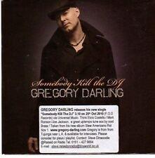 (CE156) Gregory Darling, Somebody Kill The DJ - 2010 DJ CD