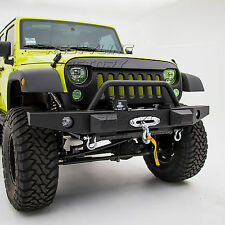 07-17 Jeep JK Wrangler Rock Crawler Front Bumper+OE Fog Light Hole+Winch Plate