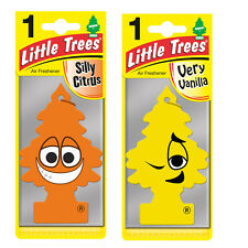 2 x Magic Tree Little Trees Car Air Freshener Scent SILLY CITRUS + VERY VANILLA