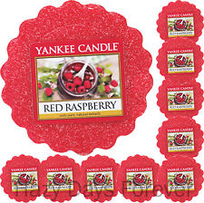 10 YANKEE CANDLE WAX TARTS Red Raspberry MELTS Fruity Scented Berries
