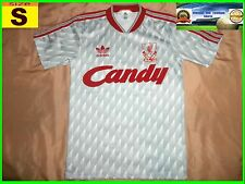 RARE EXELLENT LIVERPOOL 1988 1990 away SHIRT  32/34 S ADIDAS CANDY