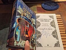 A STORM OF SWORDS, UK, George R R Martin, True 1st Edition, **SIGNED**