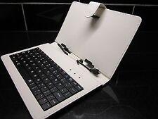 "Luxury Graphite Grey/Silver Micro B USB Keyboard Case/Stand for DISGO Busbi 7"""