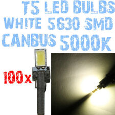 N° 100 Ampoules LED T5 Blanc 5000K SMD 5630 Phares Angel Eyes DEPO FK 12v 1A6A 1