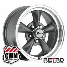 "Chevy El Camino Wheels 15 inch 15x7"" Charcoal Gray Rims El Camino 1964-1981"