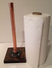 "Industrial 3/4"" Copper Pipe Paper Towel Holder (Pick your own stain (Base))"