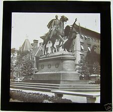 Glass Magic Lantern Slide THE SHERMAN STATUE NEW YORK C1910 AMERICA