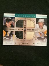 Artifacts 14-15 Mario Lemieux Paul Coffey Stick To Stick Duo Pittsburgh Penguins