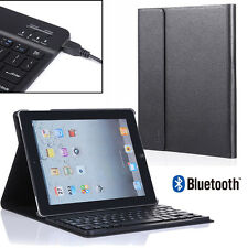 For New Apple iPad 2/3/4 Stand Leather Case Cover + Bluetooth Keyboard Remo