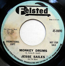 JESSE SAILES 45 Monkey Drums / I'm In Love With.. PROMO Girl Group POPCORN e1146
