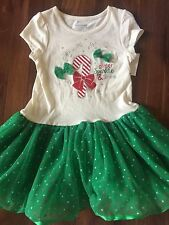 NEW girls FANCY CHRISTMAS DRESS tutu PARTY glitter FULL SKIRT candy cane SIZE 5T