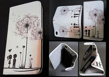 Iphone 5 5s Case / White dandelion wallet case / **Have types for all iphones**