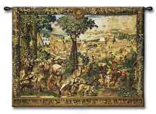MONTH OF APRIL MEDIEVAL HUNT MAXIMILIAN WOOL TAPESTRY WALL HANGING LARGE 74x53