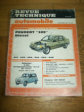 REVUE TECHNIQUE AUTOMOBILE n° 483 sept 1987 PEUGEOT 309 Diesel Renault 4 GTL