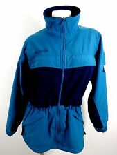 COLUMBIA WOMENS NAVY BLUE NYLON POLYESTER BLEND ANORAK JACKET SIZE M